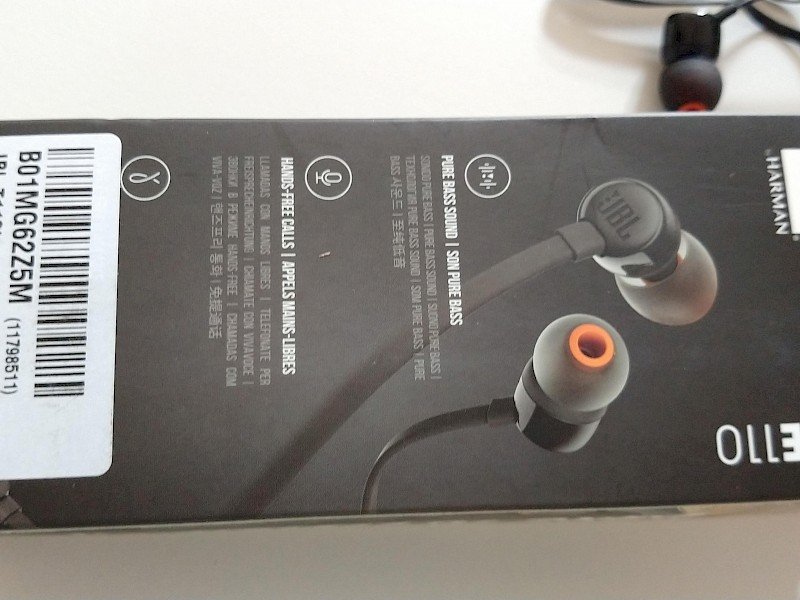 JBL T110 headphone test - © real-tests.co.uk